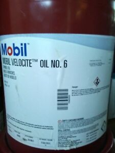 5 Gal Of Mobil Velocite Spindle Oil 6 Used In Bridgeport mills