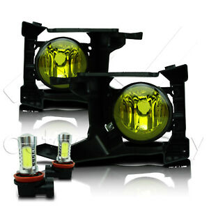 Fit 2018 Forester Fog Lights Glass Lens W wiring Kit Cob Led Bulbs Yellow