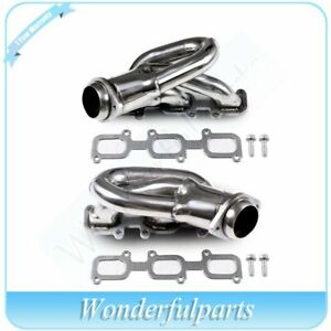 Shorty Stainless Racing Header Exhaust Manifold For 2016 Mustang Base 3 7l Dohc