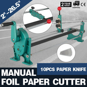 New Style Heavy Duty 26 5 Manual Foil Paper Cutter Hot Stamping Rolls Slitter