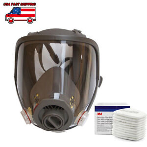 Us Stock Full Face Facepiece Respirator Gas Mask For 3m 6800 Dust Paint Spraying