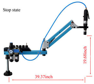 Drilling Tapping Tool Vertical Type Pneumatic Air Tapping Machine M3 m12 New
