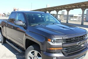 2016 2018 Chevy Silverado Vinyl Graphic Lateral Hood Spikes Spear Stripe Decal