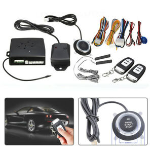 Keyless Push Button Start Car Rfid Anti theft Remote Start Engine