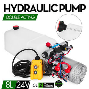 8l Single Solenoid Double Acting Hydraulic Pump Lift Unloading Trailer