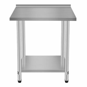 Stainless Steel Commercial Kitchen Work Food Prep Table 30 x24 Shelf Tg