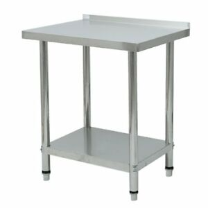 Rolling Stainless Steel Top Kitchen Work Table Cart Shelving 30 x24 New Tg