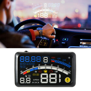 Car Hud Head Up Obd2 Ii Speedometer Display Projector Speeding Windshield Us
