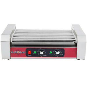 18 Hot Dog Stainless Steel Concession Stand Electric 5 Roller Grill Commerical