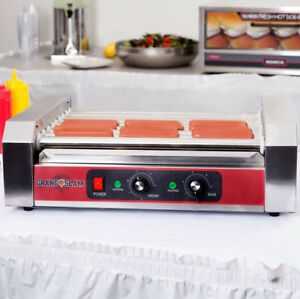24 Hot Dog Stainless Steel Concession Stand Electric 5 Roller Grill Commercial