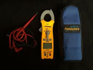 Fieldpiece Sc260 Compact Clamp Meter True Rms Magnet Test Leads And Case