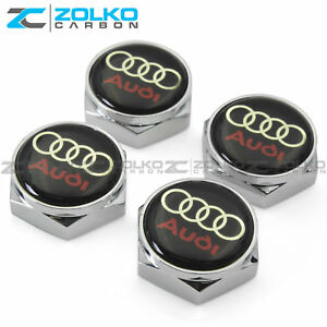 License Plate Bolts Screws Frame Caps Chrome For Audi Us Seller Lb02