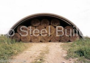 Durospan Steel 51x92x17 Metal Quonset Barn Building Kit Open Ends Factory Direct