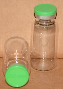 20 Ml Clear Sterile Vial With Meadow Green Plain Flip Cap Seal Qty 100