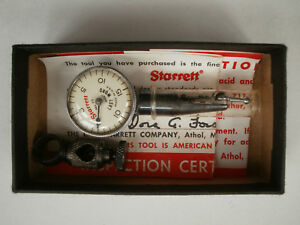 Vintage Starrett 711 Last Word Dial Test Indicator W Clamp