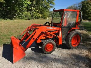 1999 Kubota L2500 Dt low Hours 4wd Front Loader Many Extra Snow Plow Removal