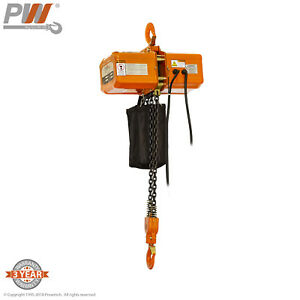 Prowinch Electric Chain Hoist 2 Ton 20 Ft 2 Fall 110 220v