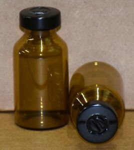 20 Ml Amber Sterile Vial With Black Center Tear Seal Qty 25