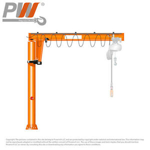 Prowinch Manual Jib Crane 1 Ton 360 Degree Rotation 12 Ft Height 12 Ft Span