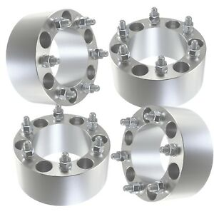 4pcs 3 Wheel Spacers Adapters 6x5 5 6 Lug Trucks Suv Offroad Billet Fits Toyota