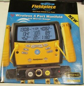 New Fieldpiece Sman460 Wireless 4 port Digital Manifold W micron Gauge New
