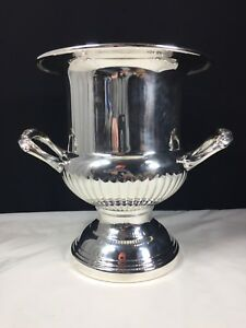 Vintage Kent Silversmiths 10 Inch Silverplated Champagne Ice Bucket