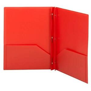 Smead Poly Two pocket Folder Tang style Fastener Holds Up To 180 Sheets