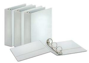 Cardinal Round Ring View Binders 2 inch Capacity White Case Of 4 Binders