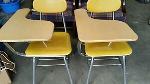 Vintage Melsur Plastic Chrome Mid Century School Desk Chair