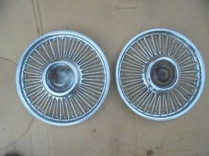 63 64 65 66 67 68 Ford Mercury Wire Wheel Covers Fairlane Falcon Mustang Comet