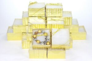 100 Pc Clear View Cotton Filled Boxes Jewelry Gift Box Bracelet Box 3 3 4x2 t