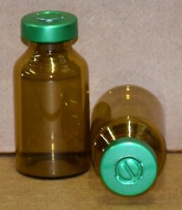 20 Ml Amber Sterile Vial With Green Center Tear Seal Qty 100