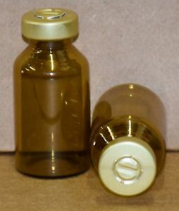 20 Ml Amber Sterile Vial With Gold Center Tear Seal Qty 100