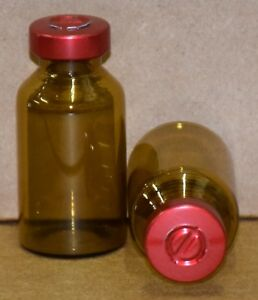 20 Ml Amber Sterile Vial With Red Center Tear Seal Qty 25