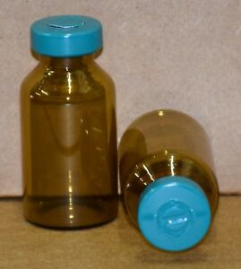 20 Ml Amber Sterile Vial With Turquoise Center Tear Seal Qty 50
