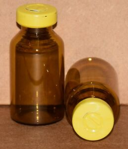20 Ml Amber Sterile Vial With Yellow Center Tear Seal Qty 100