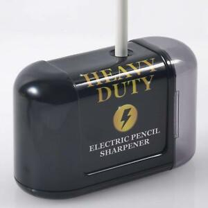 Heavy Duty Electric Pencil Sharpener Battery Powered Helical Blade Office School