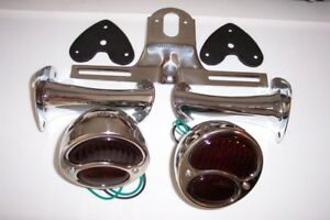 1928 1931 Model A Ford Light Kit Stainless Lights With Glass Lens