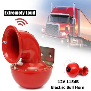 115db Electric Bull Horn Super Loud Raging Sound For Car Motorcycle Truck Boat