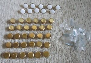 Lot Of 40 Solid Brass Drawer Knobs