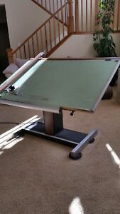 Drafting Table Vemco V track Drafting Machine W Chair Tool Holder