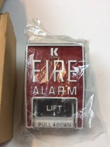 Kidde Mfg 601178 New Double Action Mps Fire Alarm Box Red Metal Model B5 Vintage