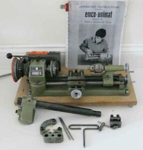 Unimat Sl db200 Mini Lathe With Milling Attachment Manual Steady Rest Working
