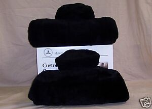 Mbz Tailormade Factory Sheepskin Seat Covers r230 Sl Class 1 Pair black