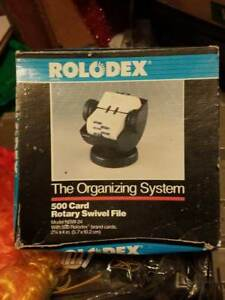 Rolodex 500 Card Rotary Swivel File Updated Style Model Nsw 24 Mint