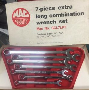 Mac Tools Scl7lpt 7 Piece Sae Xl Combo Wrench Set Very Nice
