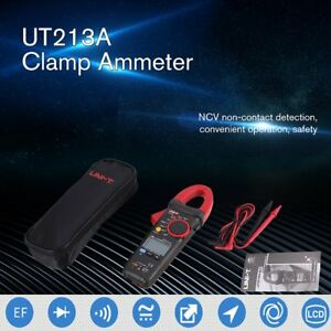 Uni t Ut213a Ac dc Digital Clamp Meter Ammeter Resistor Capacitor Diode Test Ns
