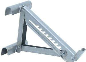 Ladder Jack 18 In 2 rung Adjustable Wide Plank Weather Resistant Aluminum