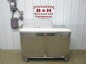 Beverage Air 48 Two Door 4 Refrigerated Sandwich Prep Table Sur48 08