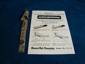 Vintage Snap On Cf 7b Valve Keeper Spring Tool Mechanic Shop With Instructions